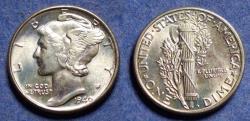 Us Coins - United States,  1940, Silver Mercury Dime, MS65 FSB