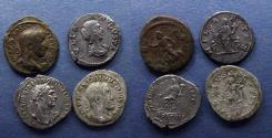 Ancient Coins - Roman Empire, Group of four Denarii 98-238,
