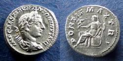 Ancient Coins - Roman Empire, Elagabalus 218-222, Denarius - Rare type