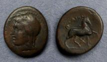 Ancient Coins - Thessaly, Thebai Circa 250 BC, AE17