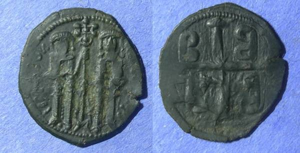 Ancient Coins - Byzantine Empire, Andronicus II and Michael IX 1295-1320, Assarion