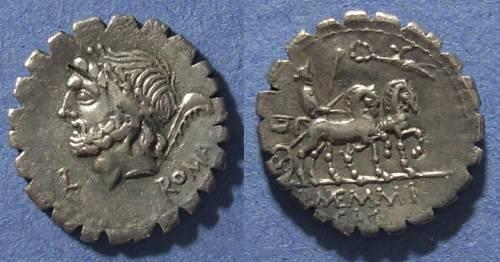 Ancient Coins - Roman Republic, L Memmius Galeria 106 BC, Denarius