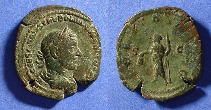 Ancient Coins - Trebonianus Gallus 251-253 Sestertius