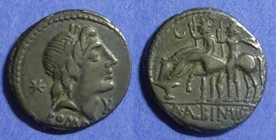 Ancient Coins - Roman Republic A Albinus Sp f 96 BC Denarius