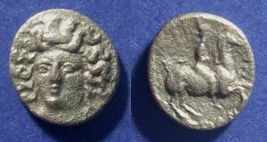 Ancient Coins - Thessaly, Larissa 380-365 BC, Trihemiobol