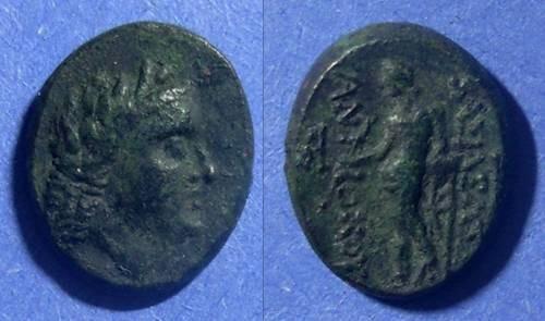 Ancient Coins - Seleucid Kingdom, Antiochos III 223-187 BC, 14x16mm