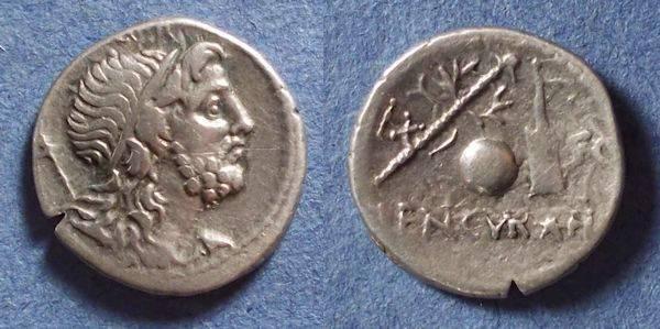 Ancient Coins - Roman Republic, Cn Lentulus 76-75 BC, Denarius