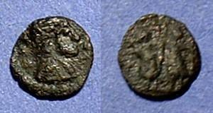 Ancient Coins - Imitation of a roman coin - Minimi  8mm in diameter