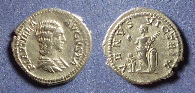 Ancient Coins - Roman Empire, Plautilla 202-5, Denarius