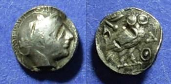 Ancient Coins - Imitative Athens, Arabia? Circa 350 BC, Obol