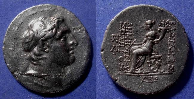 Ancient Coins - Seleucid Kingdom, Demetrios 162-150 BC, Tetradrachm
