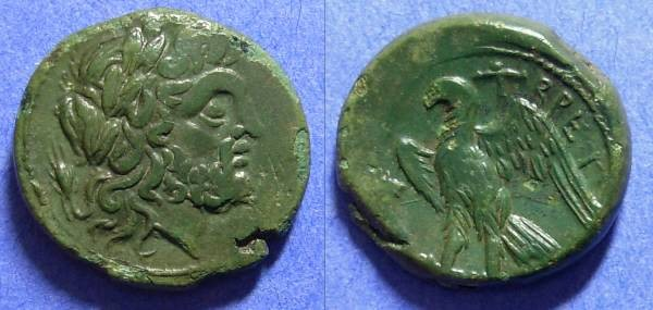 Ancient Coins - The Bretti - Bruttium - AE Reduced Uncia 214-211 BC
