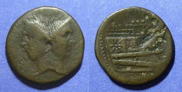 Ancient Coins - Roman Republic, Sextus Pompey 43-36 BC, As