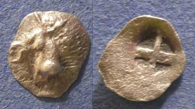 Ancient Coins - Mende, Macedonia 520-480 BC, Tritartemorion