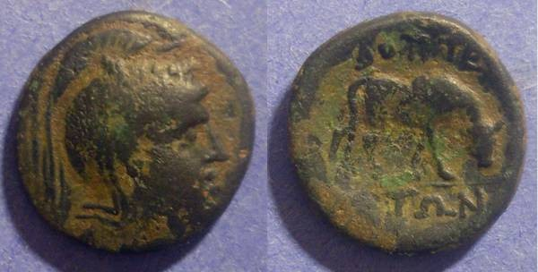 Ancient Coins - Bottiaea, Macedonia 185-168 BC, AE22