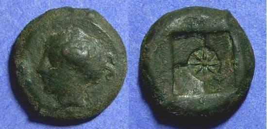 Ancient Coins - Sicily, Syracuse Circa 415 BC, Hemilitron