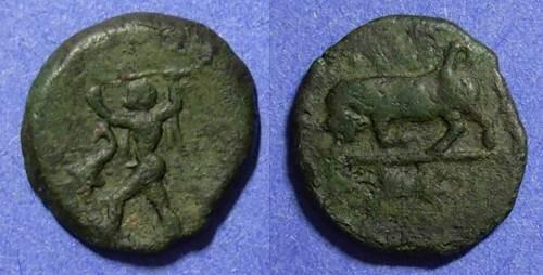 Ancient Coins - Lucania, Poseidonia 350-290 BC, AE14