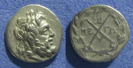Ancient Coins - Achaian League, Megara Megaris 188-180 BC, Hemidrachm