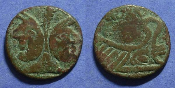 Ancient Coins - Roman Republic – Barbarous imitation Aes Circa 100BC