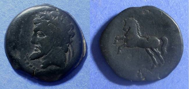 Ancient Coins - Numidia, Micipsa 148-118 BC, AE27