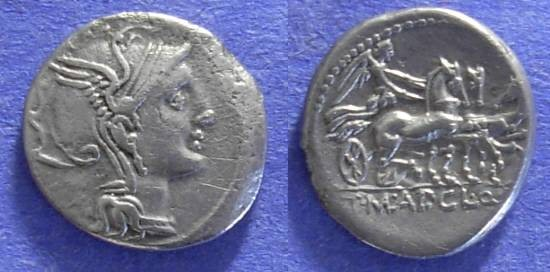 Ancient Coins - Roman Republic - Claudia 2 Denarius - 110-109 BC
