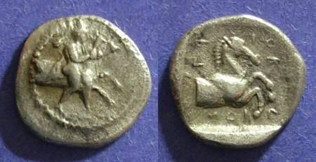 Ancient Coins - Trikka, Thessaly 480-400 BC, Hemidrachm