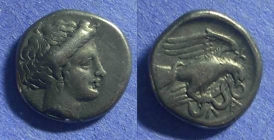 Ancient Coins - Chalkis Euboea – Drachm 340-294BC