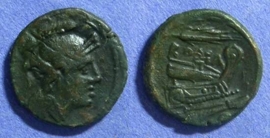 Ancient Coins - Roman Republic Uncia 211-206BC – Anonymous
