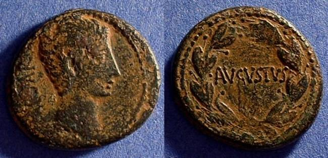 Ancient Coins - Augustus 27BC - 14AD - Aes struck at Pergamon or Ephesos