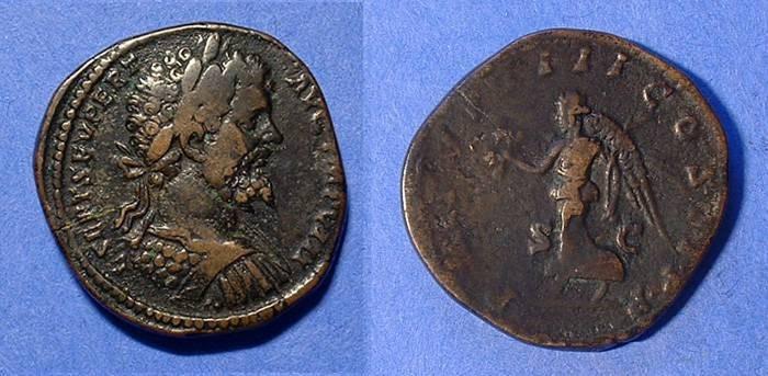 Ancient Coins - Septimius Severus 193-211 AD Sestertius