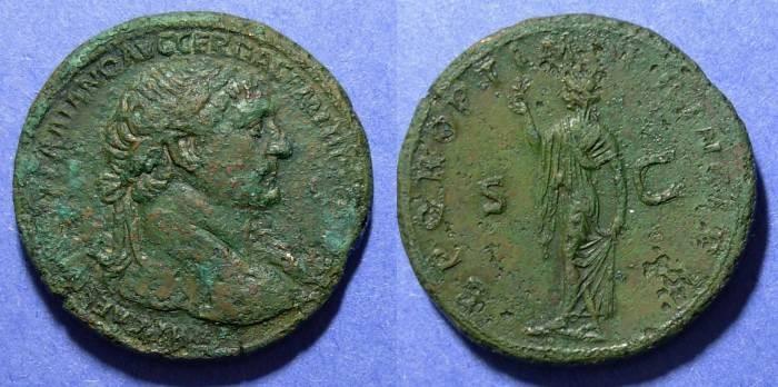 Ancient Coins - Roman Empire, Trajan 98-117 AD, Sestertius
