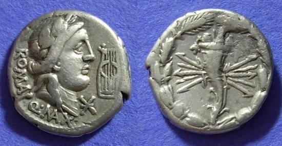 Ancient Coins - Roman Republic Fabia 6 Denarius 82 BC