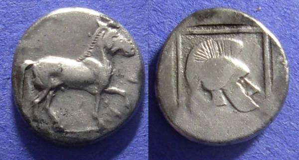 Ancient Coins - Macedonian Kingdom: Alexander I 495-454 BC – Light Tetrobol