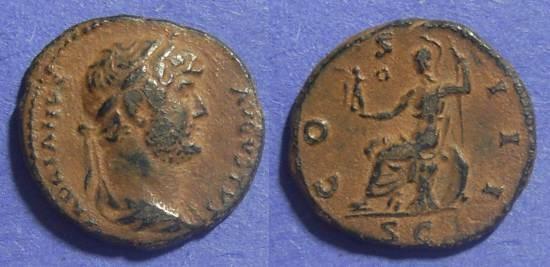 Ancient Coins - Roman Empire, Hadrian 117-138 AD, Quadrans
