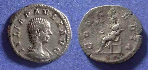 Ancient Coins - Roman Empire, Julia Paula (wife of Elagabalus) 219-220, Denarius