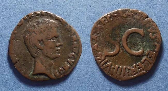 Ancient Coins - Roman Empire, Augustus 27BC-14AD, As