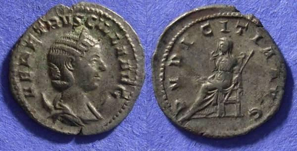 Ancient Coins - Herennia Etruscilla (Wife of T. Decius) 249-251 Antoninianus
