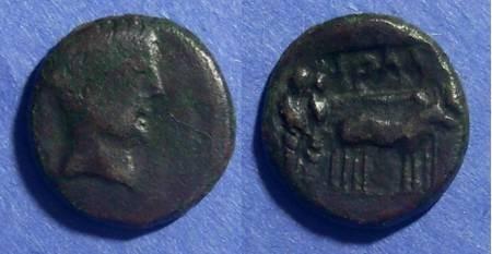Ancient Coins - Philippi(?) Macedonia, Augustus 27BC-14AD, AE16