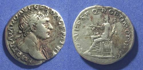 Ancient Coins - Roman Empire, Trajan 98-117 AD, Denarius