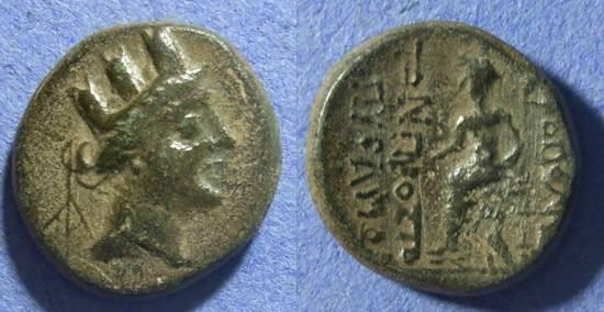 Ancient Coins - Cilicia, Hierapolis Circa 150 BC, AE19