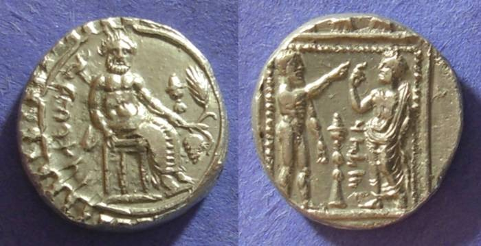 Ancient Coins - Tarsos Cilicia, Datames 378-362BC, Stater