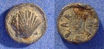 Ancient Coins - Lead seal -10.5mm  Circa 300AD