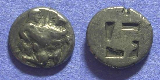 Ancient Coins - Thasos : Island off Thrace – Drachm  Circa 500BC