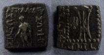 Ancient Coins - Bactrian Kingdom, Apollodotus 175-164 BC, AE 22x22