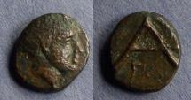 Ancient Coins - Arkadia, Megalopolis 300-275 BC, AE13x15