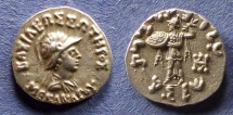 Ancient Coins - Bactrian Kingdom, Menander 165-130 BC, Drachm