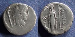 Ancient Coins - Roman Republic, L Hostilius Saserna 48 BC, Denarius