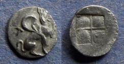 Ancient Coins - Ionia, Teos 460-420 BC, Hemiobol