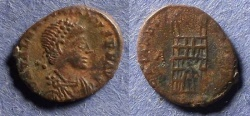 Ancient Coins - Roman Empire, Valentinian II 479-492, AE4