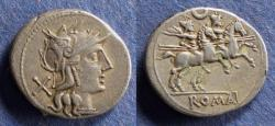 Ancient Coins - Roman Republic, Anonymous 194-190 BC, Denarius
